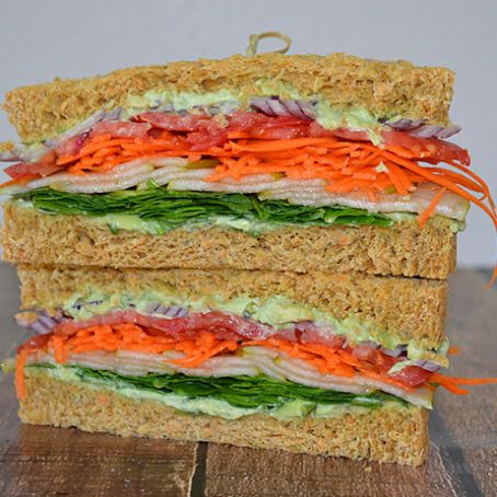 Veggie Club Sandwich and Zucchini Carrot Bread