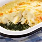 Cod with Spinach in Cheese Sauce
