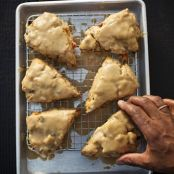 Sweet Potato Scones with Brown Sugar Icing
