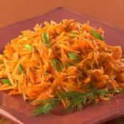 Sauted Shredded Carrots with Dill
