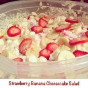 Strawberry Banana Cheesecake Salad