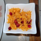 Raw Butternut Squash with Cranberry Dressing