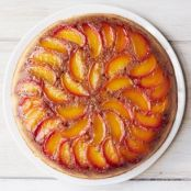 Peach Bourbon Upside-Down Cake