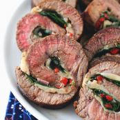 Swiss Cheese & Spinach Stuffed London Broil