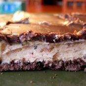 Honey Roasted Peanut Butter Bars with Chocolate Ganache