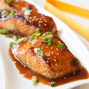 Honey BBQ Glazed Salmon