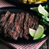 Carne Asada with Portobello And Bell Peppers