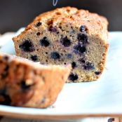 Vegan - GF - Blueberry Banana Bread