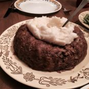 Meatloaf with Corn Bread Stuffing in a Bundt Pan