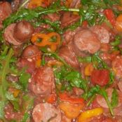 Sausage with Arugula and Peppers
