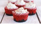 Red Velvet Cheesecake Mini Pies