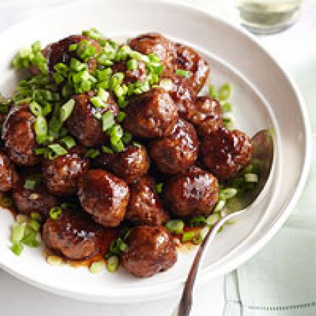 Spicy Apple Glazed Meatballs