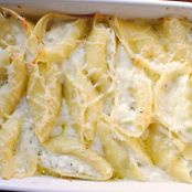Lemon-Basil Ricotta Stuffed Shells in Champagne Cream Sauce