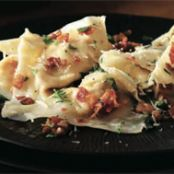 "Pumpkin ""Ravioli"" Tossed with Bacon & Parsley"