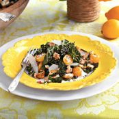 Lemony Kale Salad with Tomatoes
