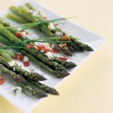 Asparagus, Blue Cheese & Tomatoes
