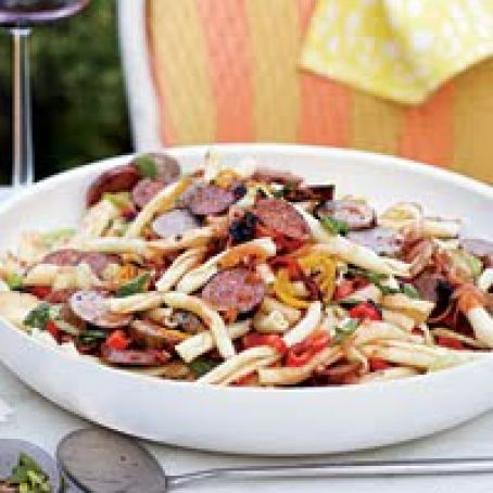 Pasta Salad with Grilled Sausage and Peppers