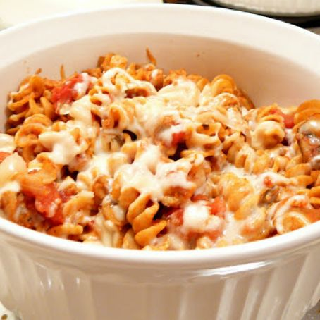 Beef and Mozzarella Baked Rotini
