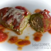 baked summer squash - stuffed to perfection!