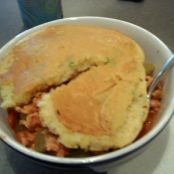Cajun Chili with Scallion Corn Cakes