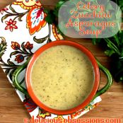 Paleo Cream of Asparagus, Celery, and Zucchini Soup Recipe (gluten free, dairy free, autoimmune friendly)aleo