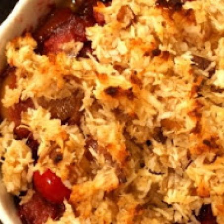 Paleo Cranberry Apple Pear Crisp