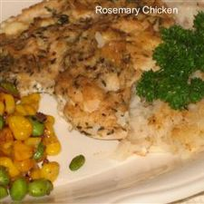 One Dish Rosemary Chicken and Rice Dinner