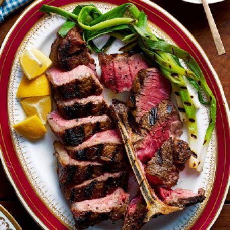 Grilled Porterhouse With Creamed Corn