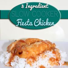 3 Ingredient Slow Cooker Fiesta Chicken