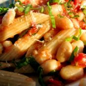 Whole Wheat Penne w/ No-Cook Tomato Sauce & White Beans