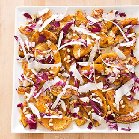 Roasted Butternut Squash with Radicchio and Parmesan