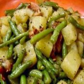 Crockpot Ham, Green Beans & Potatoes