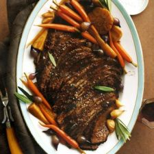 Braised Brisket with Carrots, Garlic, and Parsnips