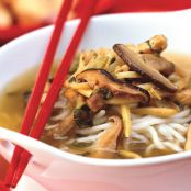 Pork and Noodle Soup with Shiitake and Snow Cabbage