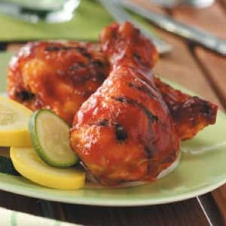 Saucy barbecued chicken