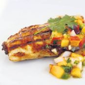 Grilled Maple Chicken with Peach Salsa
