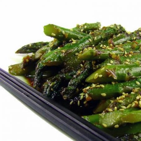 sweet and spicy asparagus