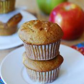 Pumpkin Banana Muffins with Apples & Cinnamon