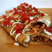 Venison (or Pork or Chicken) Chimichanga