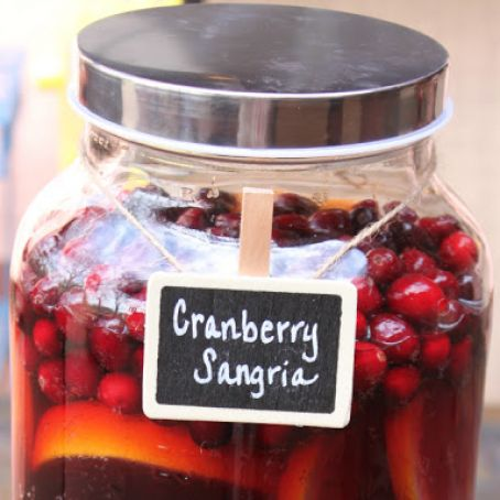 Cranberry Sangria - Virgin or Alcohol Version