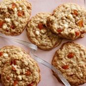 White Chocolate Apricot Oatmeal Cookies