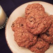 Oatmeal Honey Raisin Cookies