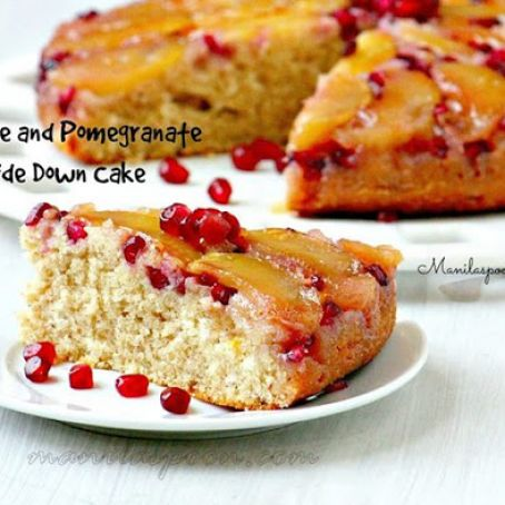 Apple and Pomegranate Upside Down Cake