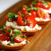 Cherry Tomato Crostini with Whipped Feta