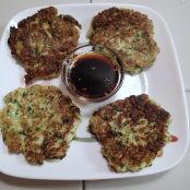 Zucchini Fritters with sauce