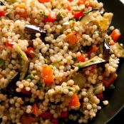 Couscous with Eggplant and Red Pepper Salad
