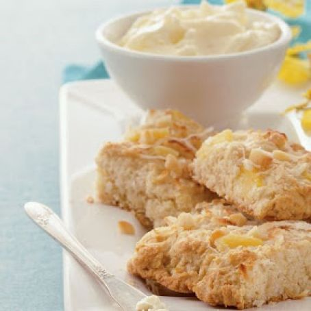 COCONUT PINEAPPLE AND MACADAMIA SCONES