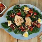 Tuna Spinach Salad with Strawberries