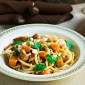 Angel Hair Pasta with Pumpkin, Sage and Walnuts