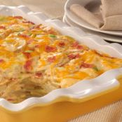 Scrumptious Cheddar Bacon Scalloped Potatoes